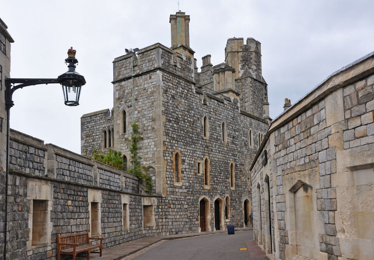 Windsor castle walkway Architecture Britain Castle Day Empty England Façade Historical Building History Landmark Old Stone Street Street Light Tourist Destination Towers Uk Walkway Walls Wide Angle Windsor Windsor Castle Windsorcastle A Bird's Eye View