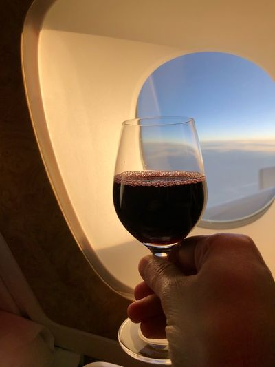 Wine in Sky Gay World Gay Life Human Hand Real People Wineglass One Person Wine Drink Human Body Part