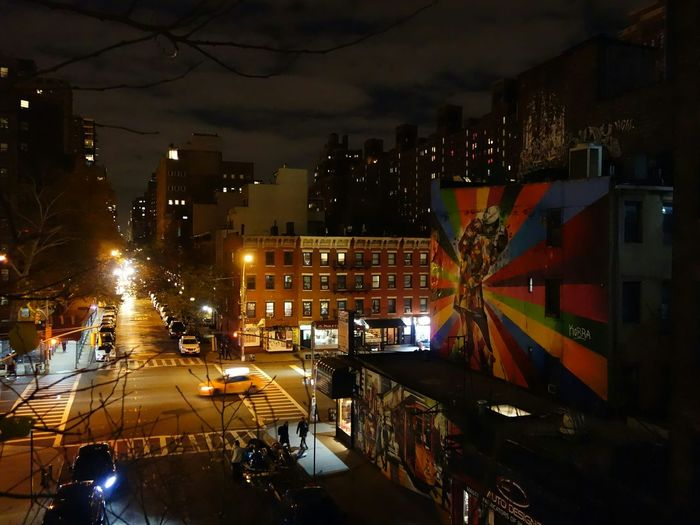 The High Line New York Mural Night