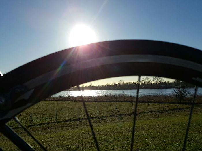 Sunlight Sport Sun Sky Clear Sky Grass Sunbeam Outdoors Tranquility Sunlight Sunset Bike Bikelife Bikelove Bike And Sun Day Grass