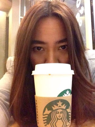 Starbucks Coffee Bored Alone
