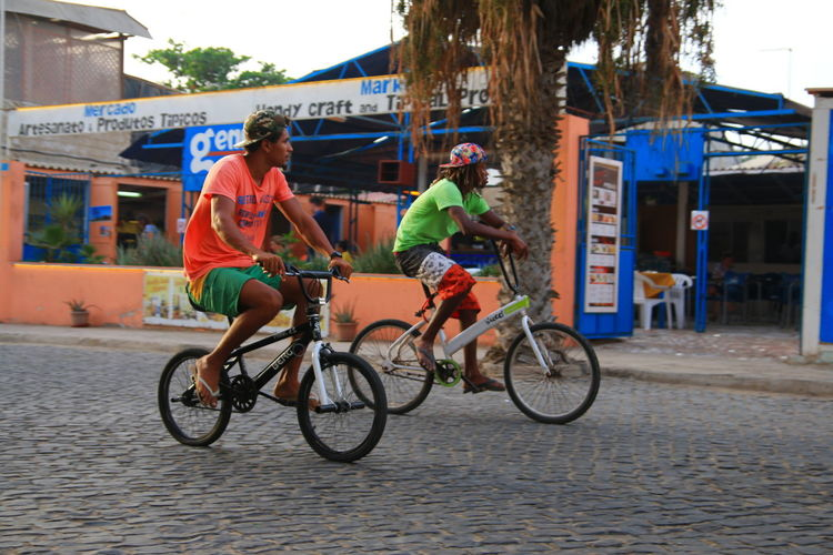Ridin´along Bicycle Blackandwhite Blue Capeverde Goodlife Lifestyles Outdoors Real People Relax Riding Sports Transportation Vacation