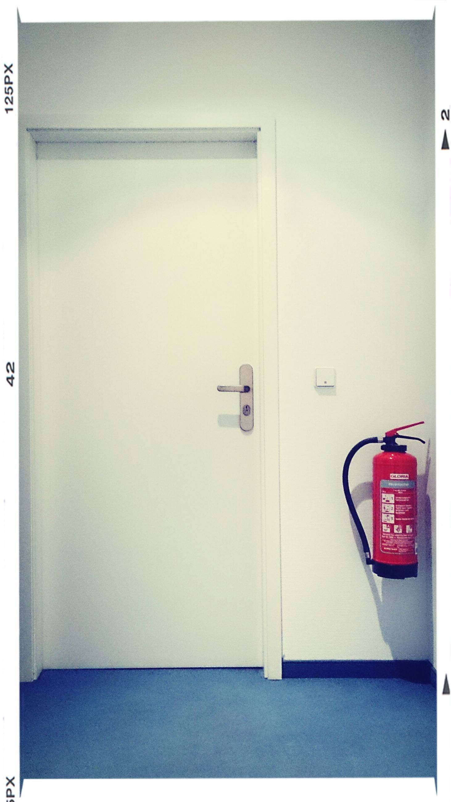 indoors, communication, door, transfer print, text, western script, wall - building feature, wall, closed, white color, red, safety, auto post production filter, number, security, no people, sign, guidance, protection, white