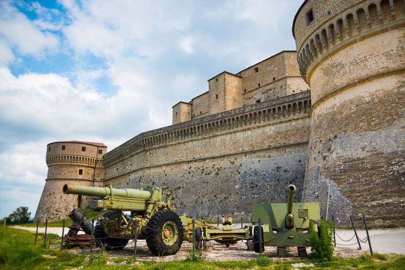 Abandoned Ancient Architecture Building Exterior Built Structure Cannon Canon Day Fort Fortress History Italy Military No People Old Old Ruin Outdoors Rimini San Leo Sky The Past Travel Destinations War Weapon