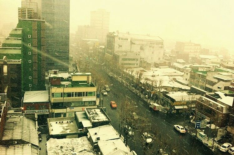 Snow ❄ Cityscapes Snowy Scene Urban Winter Korea Winter