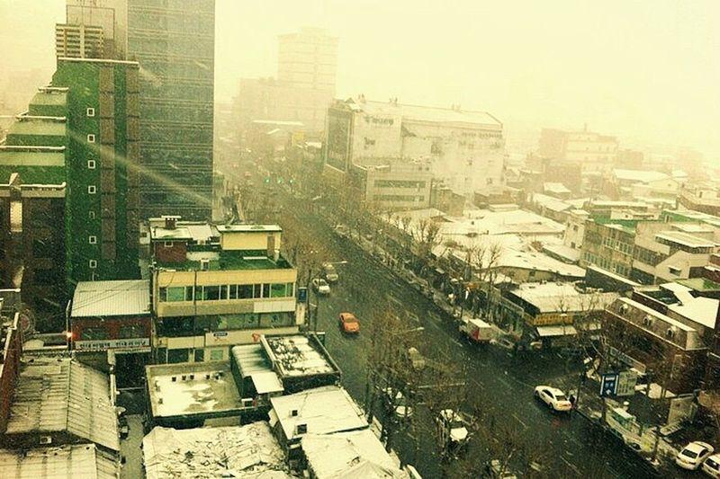 Snow ❄ Cityscapes Snowy Scene Urban Winter Korea Winter