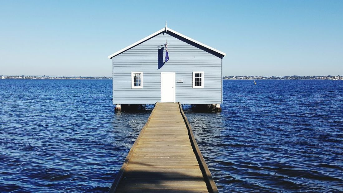 Just a blue house in the middle of the lake. Taking Photos Beauty In Nature Water Sea Check This Out The Tourist EyeEm Gallery EyeEm Best Shots - Nature Eyeemphotography Perth Australia