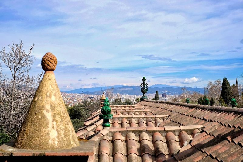 City View  Cityscape Montjuic Barcelona Barcelona, Spain Cloud - Sky Sky Outdoors Day Roof Sculpture Nature No People