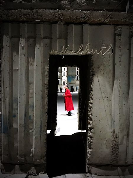 The red coat EyeEmNewHere Perspective Exhibition Contemporaryart Anselm Kiefer Architecture Hangarbicocca Real People Architecture Women EyeEmNewHere EyeEmNewHere Visual Creativity