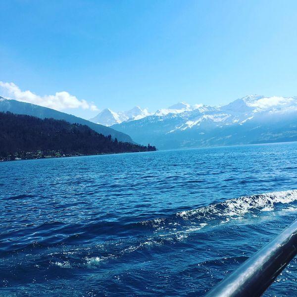 Thun Bern Schiff Water Sea Blue Sky No People Wasser Blau Blauer Himmel