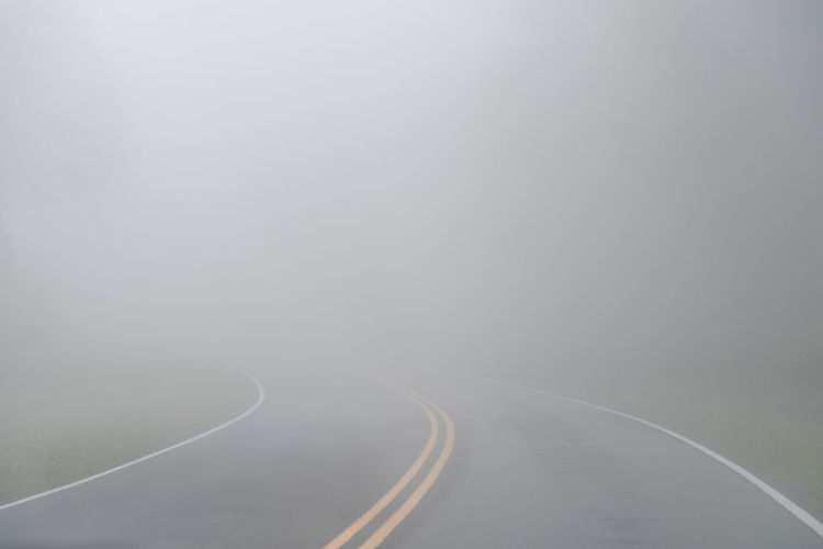 View of road amidst fog