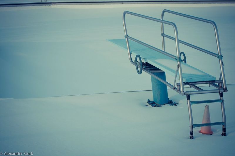 Lets Go Swimming Wintertime Winter Blues Swimming Pool Park Snow ❄