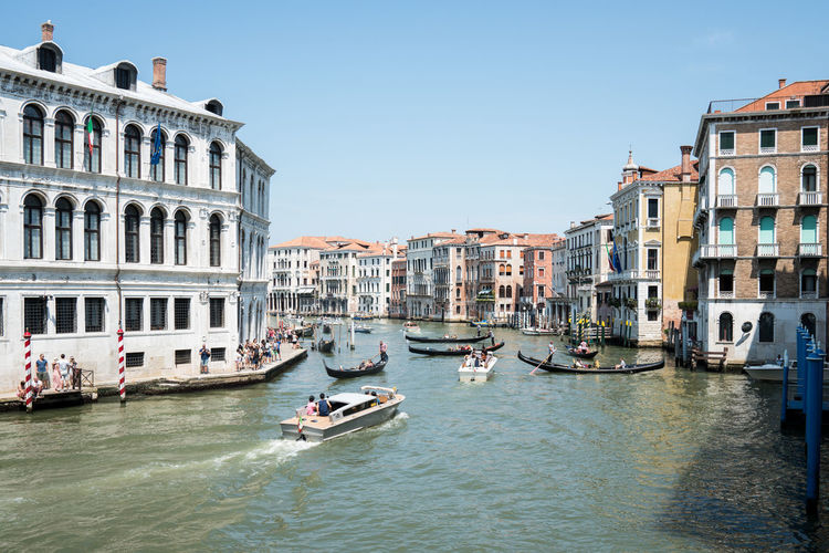 Travel Destinations Nautical Vessel Water Gondola - Traditional Boat Architecture Clear Sky Outdoors Day Sky Vacation Italy 🇮🇹 Old Architecture Venice Italy