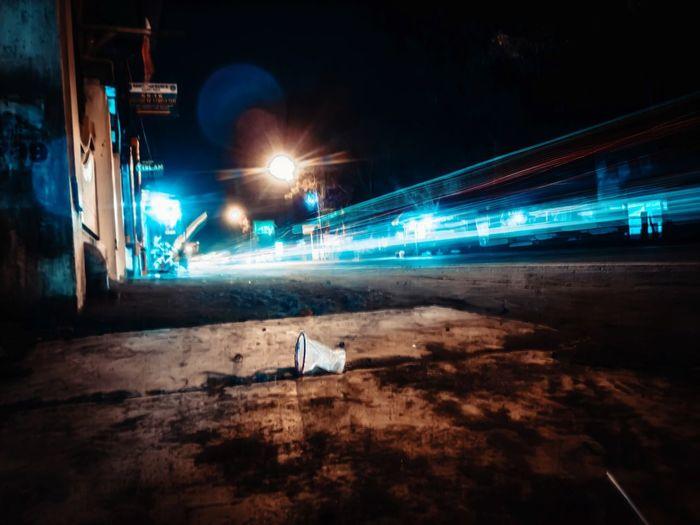 City Illuminated High Street Tail Light Light Trail Vehicle Light Traffic Light Painting Highway Headlight Elevated Road Long Exposure Street Light Urban Scene Cityscape City Street