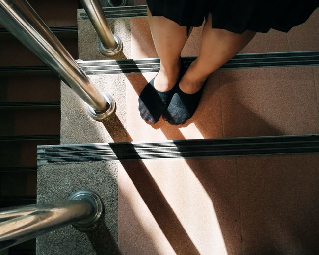 Shadow Girl Shadow Food Light And Shadow Staircase The City Light EyeEmNewHere Thailand Sunlight