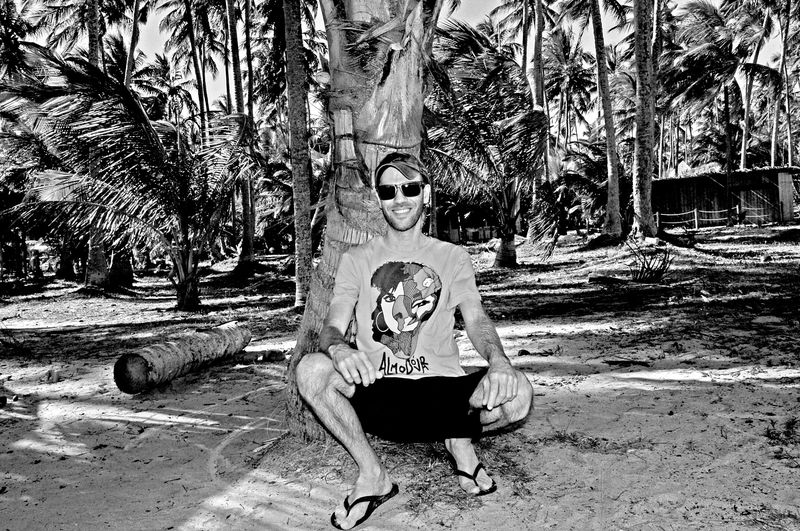 That's Me! Brazilian Guy Enjoying Life Black & White Palm Trees Nature Praia Dos Carneiros Pernambuco -Brazil Faces Of EyeEm