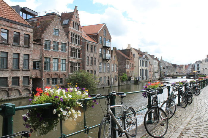#Vacation #belgium #bicycle #buildings #canals #flowers #gand #love #travel #trip Architecture Building Exterior City Day No People Outdoors Sky Travel Destinations
