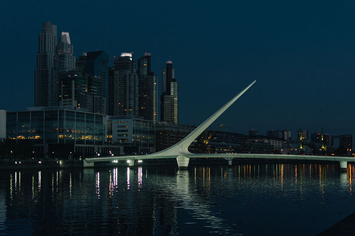 Architecture Argentina Cityscape Lifestyle Modern Outdoors Puente De La Mujer Puerto Madero Reflection River Travel Urban Skyline Vacation VSCO Vscocam Water Waterfront