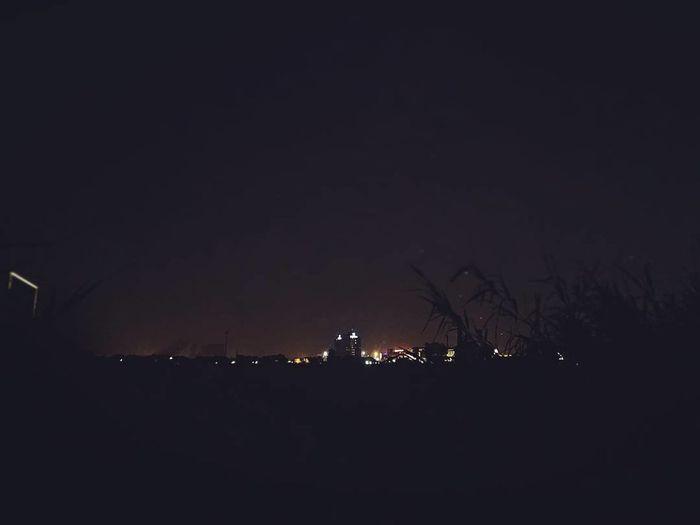 Night Illuminated No People Outdoors Sky Moon City Mobilephotography Nightphotography Nightlights Nighlife Black Background