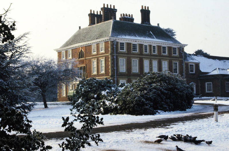 The Stately Georgian house, Forty Hall, Enfield, UK Architecture Nature Sky Tree Winter Snow Day House Outdoors Clear Sky Mammal No People Georgian House Residential Building Animal Themes Building Exterior Built Structure Cold Temperature Forty Hall, Enfield Winters Scene Postcode Postcards