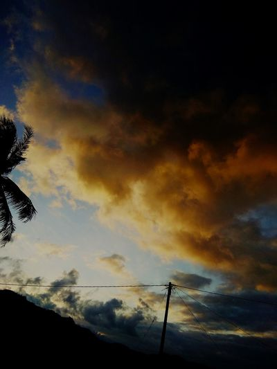 Sunrise And Clouds Sunrise Tree Silhouette Dramatic Sky Sky Cloud - Sky