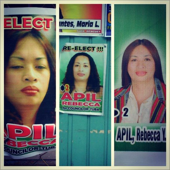 Sino ang mas ma Apil? Hehe. TatlongMukhaNiApil Councilors Election2013
