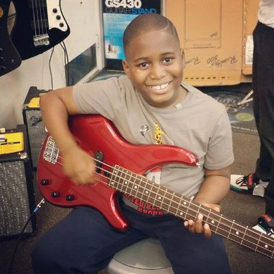 My handsome chunky hanging with the musicians of the family while I'm at work. His Pimpa of course has him on the bass. MasterMalikDW