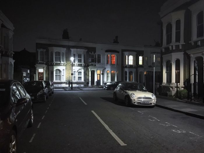 Streets of London - Transportation Car Land Vehicle Mode Of Transport Building Exterior Built Structure Architecture Night Stationary Road Illuminated No People City Outdoors Police Car