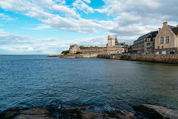 Waterfront of Roscoff Nature Day Outdoors Brittany France Roscoff Water Built Structure Cloud - Sky Architecture Sky Building Exterior Sea Building Scenics - Nature No People Waterfront Finistere Harbour Coast Coastline Europe Travel City History Travel Destinations The Past