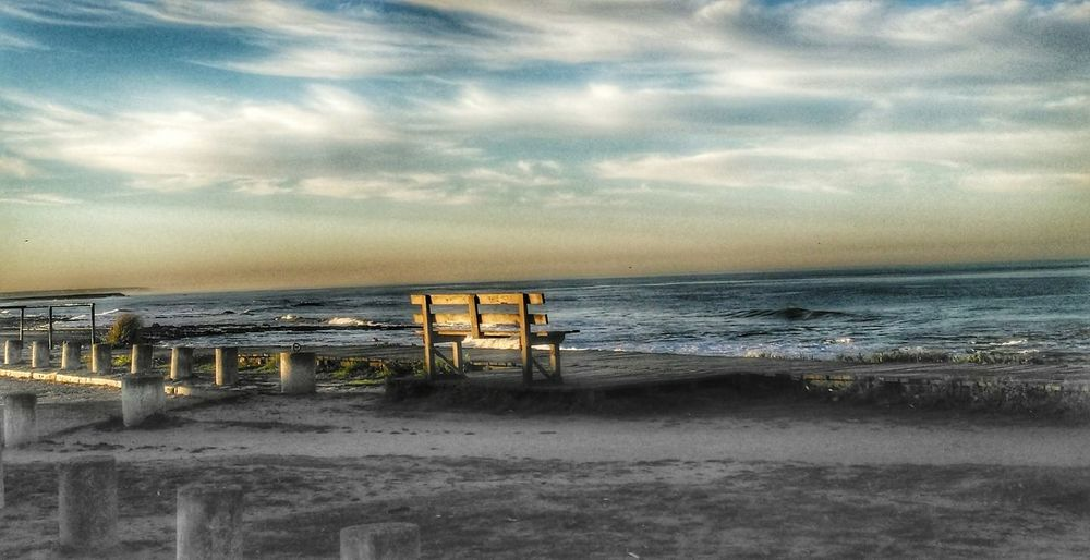 Perspectives On Nature Beach Sea Sand Horizon Over Water Water Lifeguard  Lifeguard Hut Walking Around Beauty In Nature Nature The Week On EyeEmNo People Outdoors Built Structure Sky Nature Wave Tranquility Summer Vacations Sunset Beauty In Nature Scenics Day