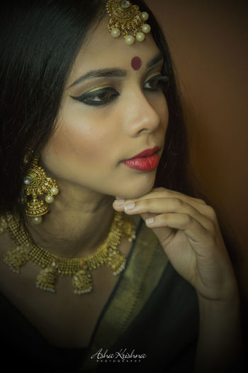 Fashion Glamour Portrait Beautiful Woman Beyourownbride Colors Of India Indian Culture  Keepcalmandsareeon Fashion Photography Ashakrishnaphotography EyeEm Gallery Indian Culture  The Portraitist - 2016 EyeEm Awards EyeEm Best Shots - People + Portrait Fashion EyeEm Best Shots
