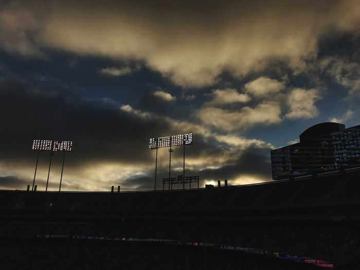Sky Text Cloud - Sky Road Architecture Outdoors No People Building Exterior City Day Stadium Baseball Lights Floodlight The Week On EyeEm