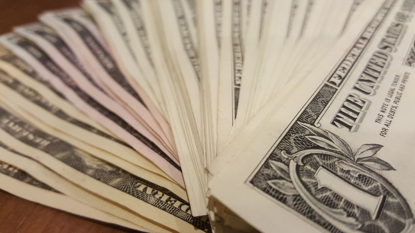 US currency Cash Money Dollars Currency Business Paper Currency Currency Backgrounds Savings Finance Wealth Close-up Banking Pile