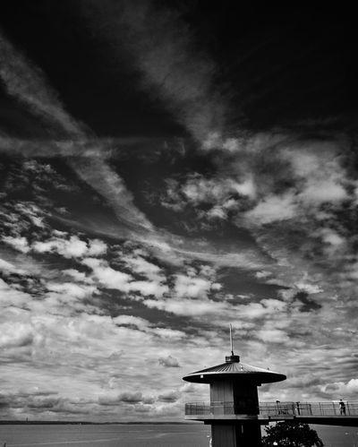 Pier Hill lift on Southend seafront. Southend Seaside Southend On Sea British Seaside Southend Seafront Southend Clouds Clouds And Sky Skyscape Sky And Clouds Black And White Blackandwhite Black & White Sky Dramatic Sky Dramatic Sky_collection Pier Hill Lift Public Lift