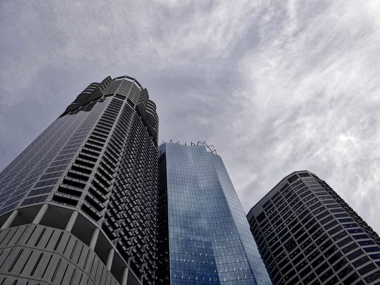 Architecture Building Exterior Built Structure City Day Growth Low Angle View Modern No People Office Park Outdoors Sky Skyscraper Tower Towers Travel Destinations Urban Skyline