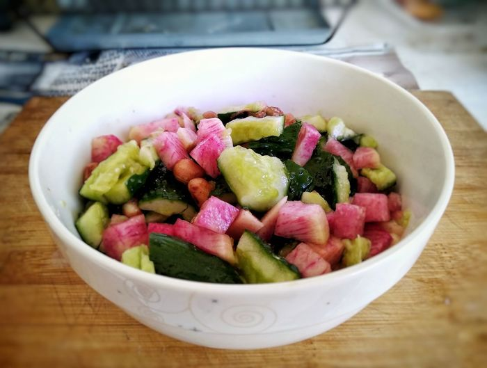 Vegetables Meeting Healthy Eating Supper Cucumber Colorful Salad Bowl Homemade Beijing, China Relaxed Fridaynight Ysk.steven Vegetable Preparation  Vegetarian Food Bowl Close-up