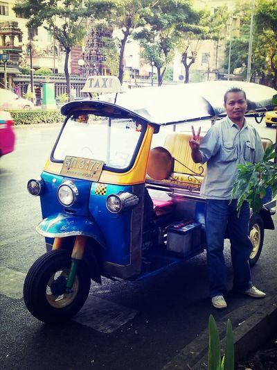 "a three wheel motorcycle in Bangkok called ""tuktuk"". Streetphotography Bike Travel Photography"