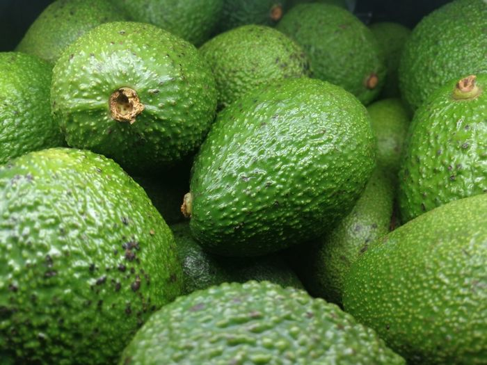 Close-up of avocado for sale in market