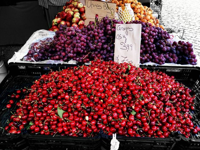 Fruits Cherry Red Color Color Fruit Amazing Food Market