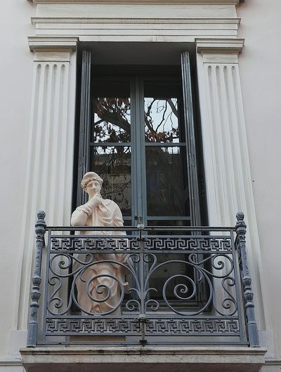 Statues/sculptures Window Frame Acropolis, Athens Architecture_collection Balcony Taking Pictures Creativity Has No Limits No People Close-up