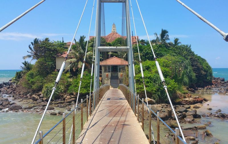 Bridge Island Matara No People Sri Lanka Travel Photography Nature Beauty In Nature Day Water Travel Destinations Outdoors Sky Blue Architecture