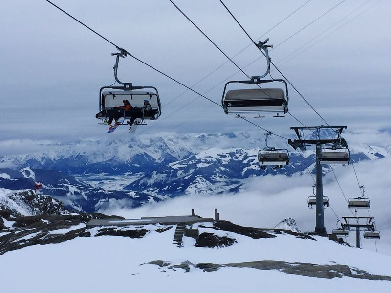 Snow Winter Cold Temperature Weather Ski Lift Overhead Cable Car Mountain Nature Scenics Cable Snowcapped Mountain Beauty In Nature Transportation Tourism Travel Outdoors Skiing Sky Non-urban Scene Zell Am See Landscape Mountain View Mountain Range Kaprun, Austria Wintertime