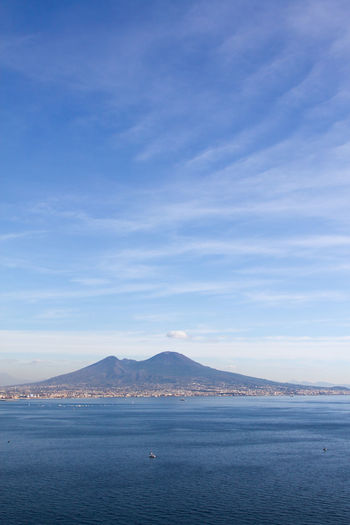 Blue Italia Italy Napoli Nature Neaples Sea Sky Vesuvio Water