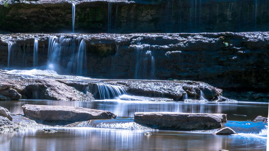 Beauty In Nature Calm EyeEmNewHere Landscape Long Exposure Motion Nature No People Outdoors Peaceful Relaxing Moments River Scenics Water Waterfall Waterfalls