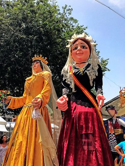 Two People Traditional Clothing Portrait Tradition Cultures Looking At Camera Real People Young Women Arts Culture And Entertainment Lifestyles Outdoors Day Women Performance Smiling Young Adult Togetherness Adult Stage Costume Cabezudos Hogueras 2017 Alicante Bornfire Fest 2017 Alicante Costa Blanca