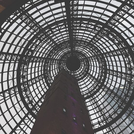 Melbourne Melbourne Central Architecture Built Structure Architectural Feature Low Angle View Indoors  Day Travel Destinations Pattern Dome No People Modern Building Exterior Black And White Friday