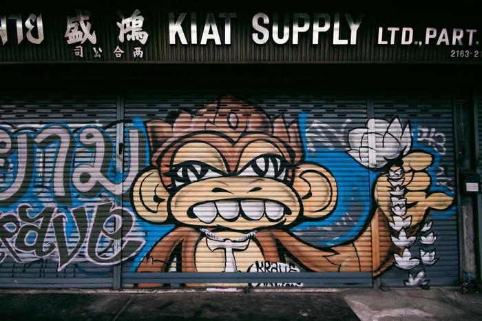 El mono fresco and his lotus flower. Writing On The Wall Bangkok Street Art Writing On The Walls