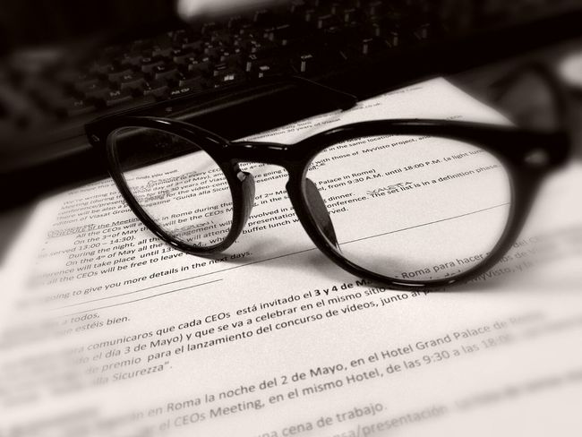 Glasses Eyeglasses  Eyesight Communication Business Close-up Text Paper Information Medium Research No People