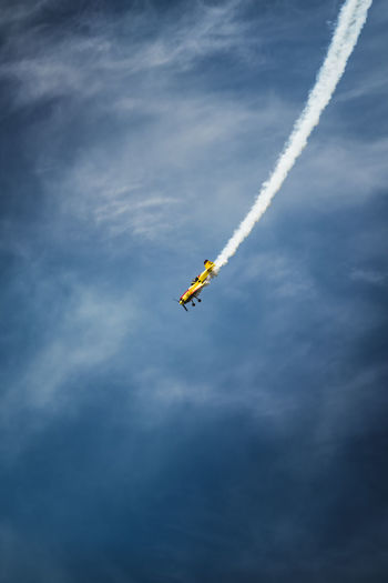Low Angle View Of Airplane Flying Against Sky8