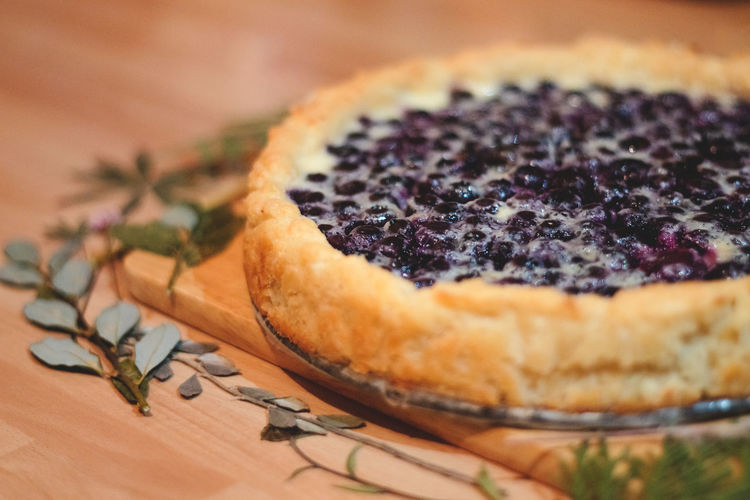 Blueberry Cheesecake Dessert Food Food And Drink Freshness Pie Ready-to-eat Table Tart - Dessert